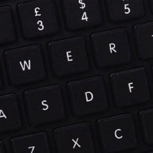 UK Replacement Black Keyboard Stickers & White Letters  UKSTICKERS